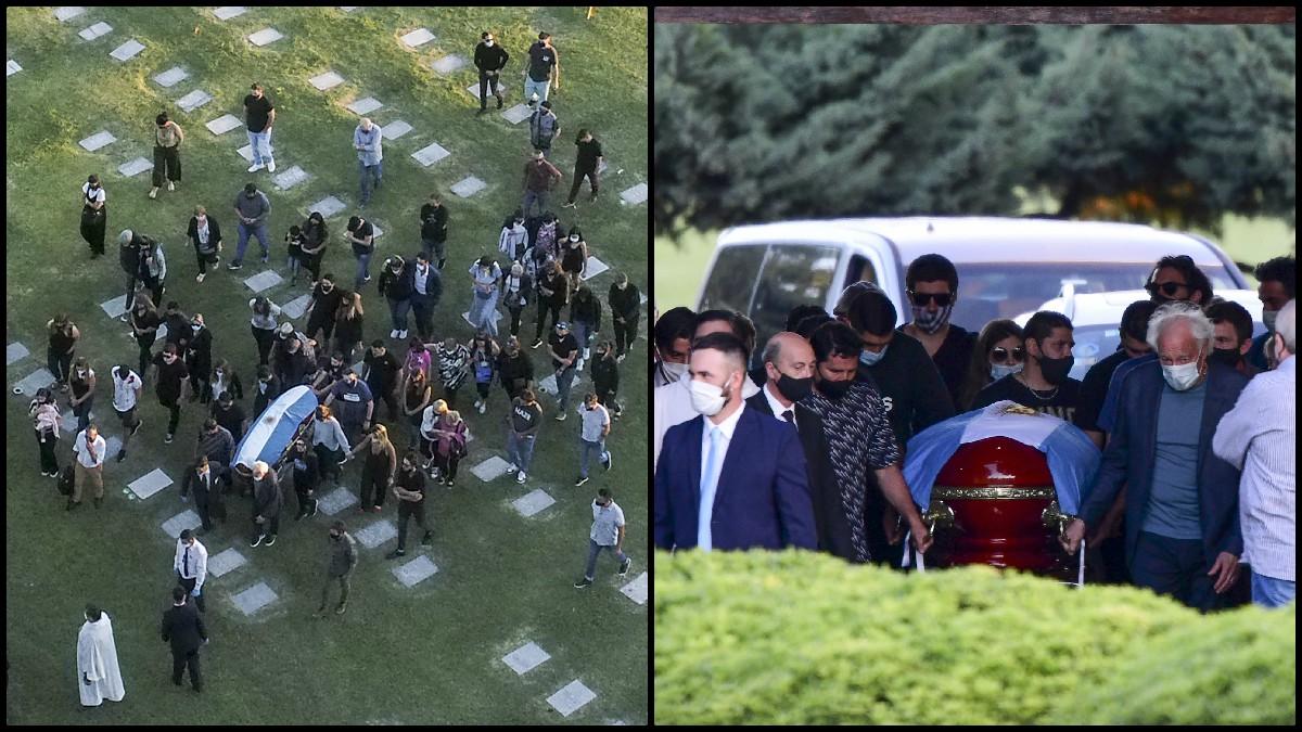 Así te contamos el último adiós a Maradona. (AFP)