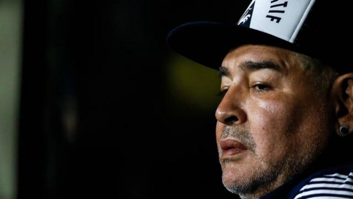 Maradona durante un acto. (AFP)