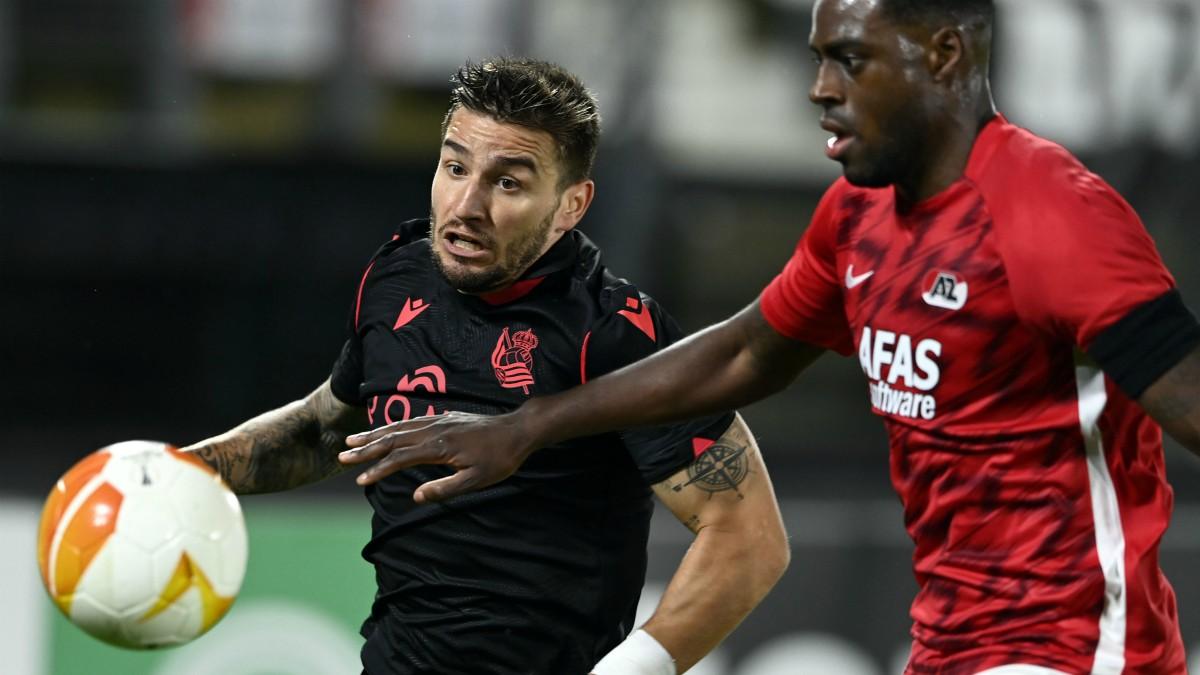 La Real empató en su visita al AZ Almaar. (AFP)