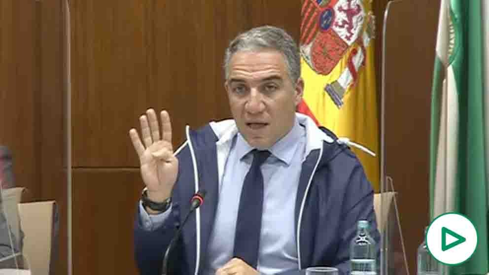 Elías Bendodo, consejero de la Presidencia de la Junta de Andalucía.