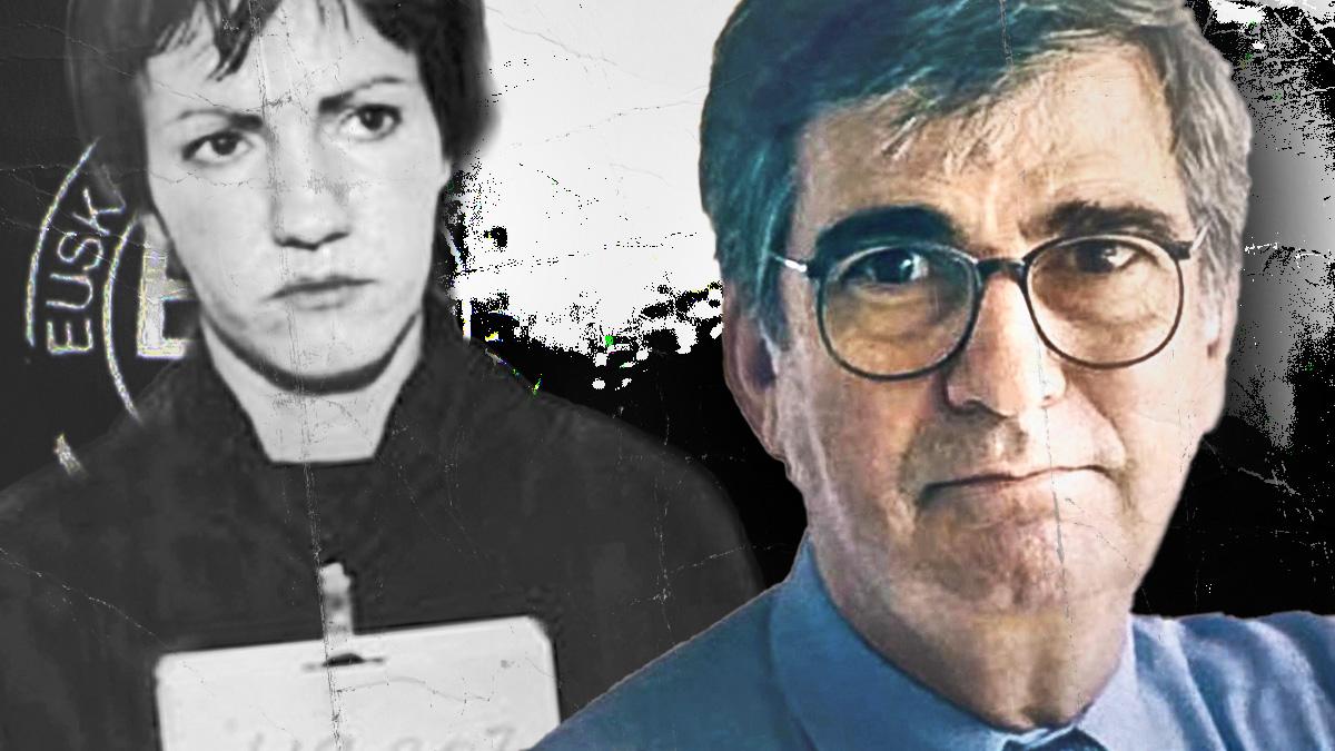 El socialista Ernest Lluch y la etarra que ayudó a asesinarle.