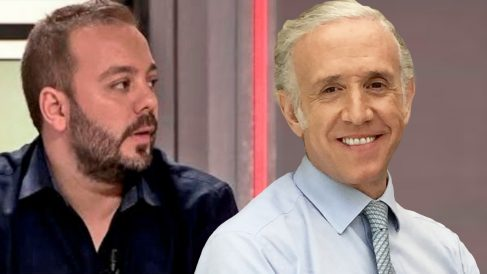 El periodista Antonio Maestre y el director de OKDIARIO, Eduardo Inda.