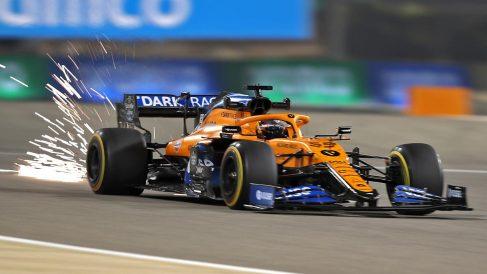 Carlos Sainz durante el Gran Premio de Baréin. (AFP)