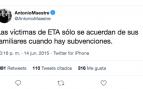 El juez dice que llamar «miserable» a Maestre por reírse de las víctimas de ETA es libertad de expresión