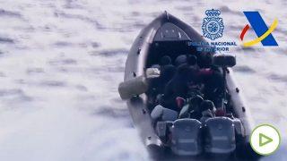 Narcolancha en el mar Mediterráneo