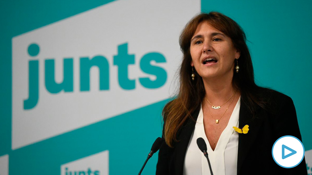 La candidata de JxCat a la Generalitat, Laura Borràs. (Foto: Europa Press)