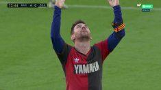 Messi dedicó su gol a Maradona. (Captura de pantalla)