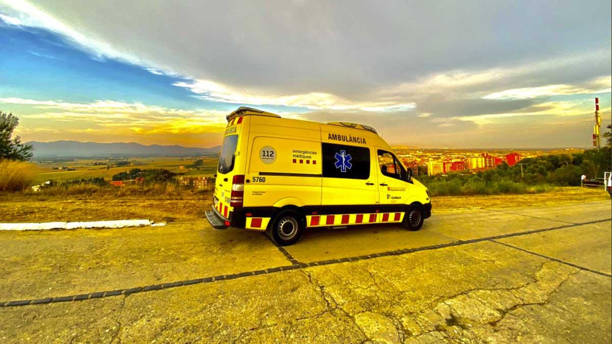 Ambulancia de emergencias de la Generalitat.