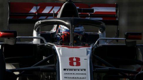 El Halo salvó la vida de Romain Grosjean en Baréin. (AFP)