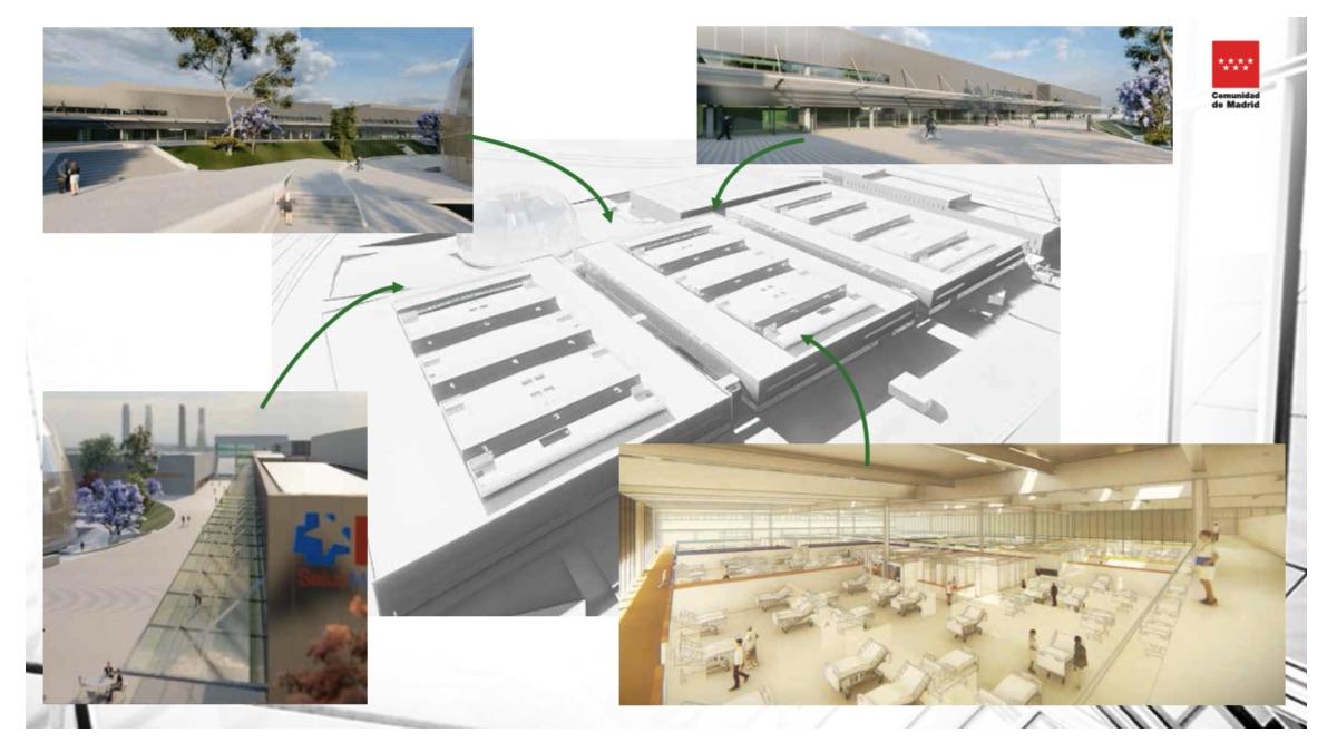 Detalles del nuevo Hospital Isabel Zendal. (Clic para ampliar)