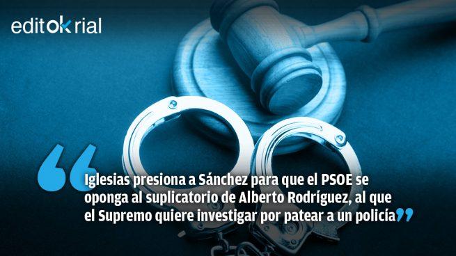 Si el PSOE 'indulta' al número 3 de Podemos estaría encubriendo a un posible delincuente