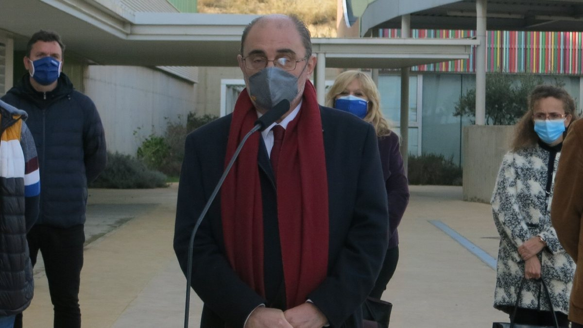 El presidente de Aragón, Javier Lambán. Foto: EP