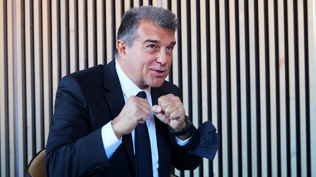 Joan Laporta quiere volver a ser presidente del Barcelona. (EFE)