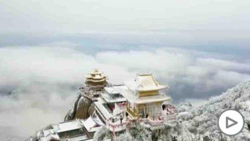 Las nevadas en China dejan imágenes espectaculares