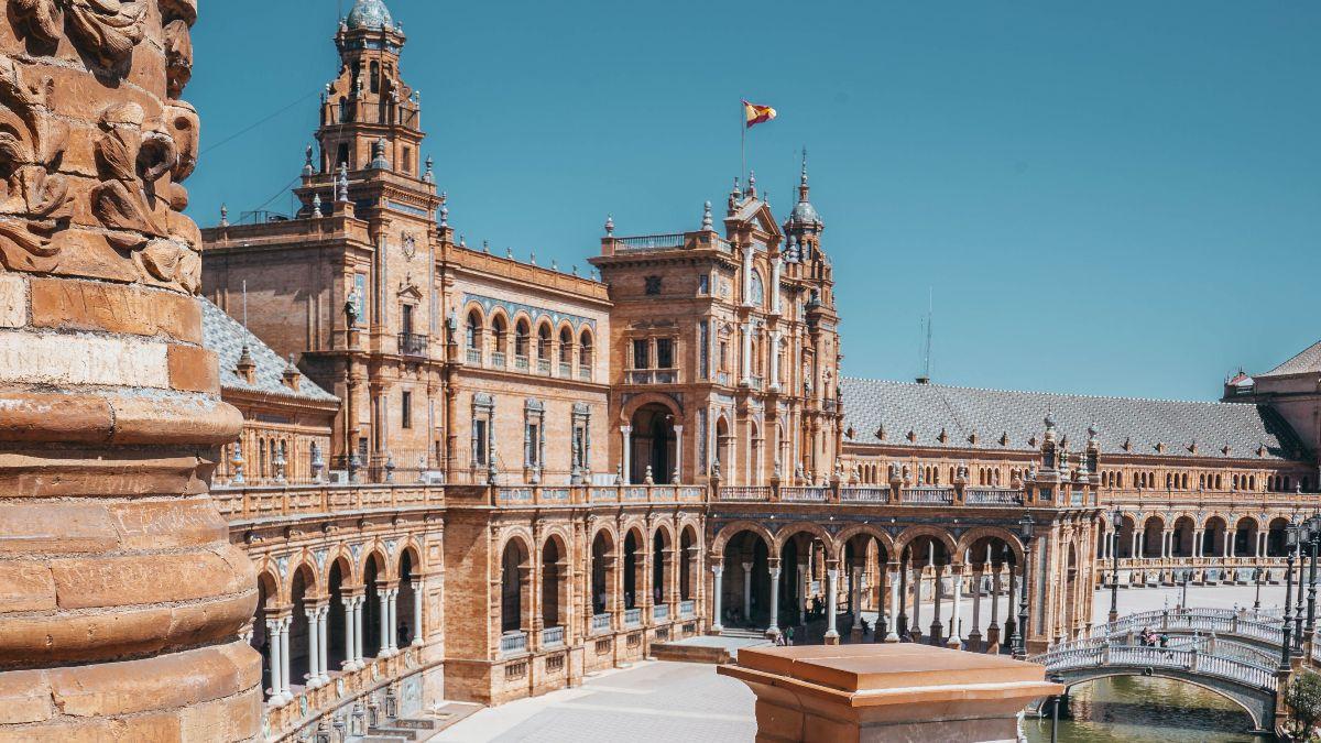 Plaza de España, en Sevilla.