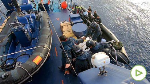 Narco lancha capturada en el Mediterráneo