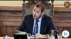 El alcalde de Valladolid, Óscar Puente, en el pleno del ayuntamiento. (Foto/video: Ayto Valladolid)