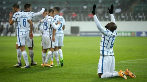 Lukaku celebra uno de sus goles. (Getty)