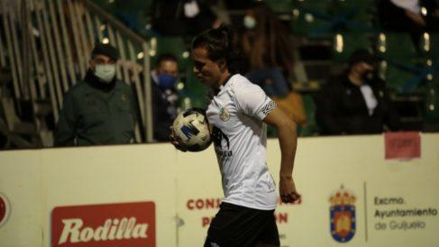 Monárrez, durante un partido con el Salamanca. (Salamanca CF UDS)