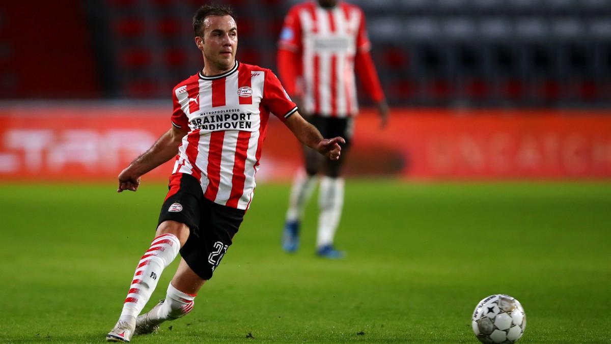 Gotze, en un partido con el PSV Eindhoven. (Getty)
