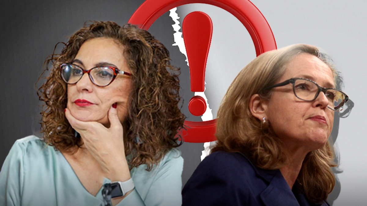 La ministra de Hacienda, María Jesús Montero, y la de Asuntos Económicos, Nadia Calviño.