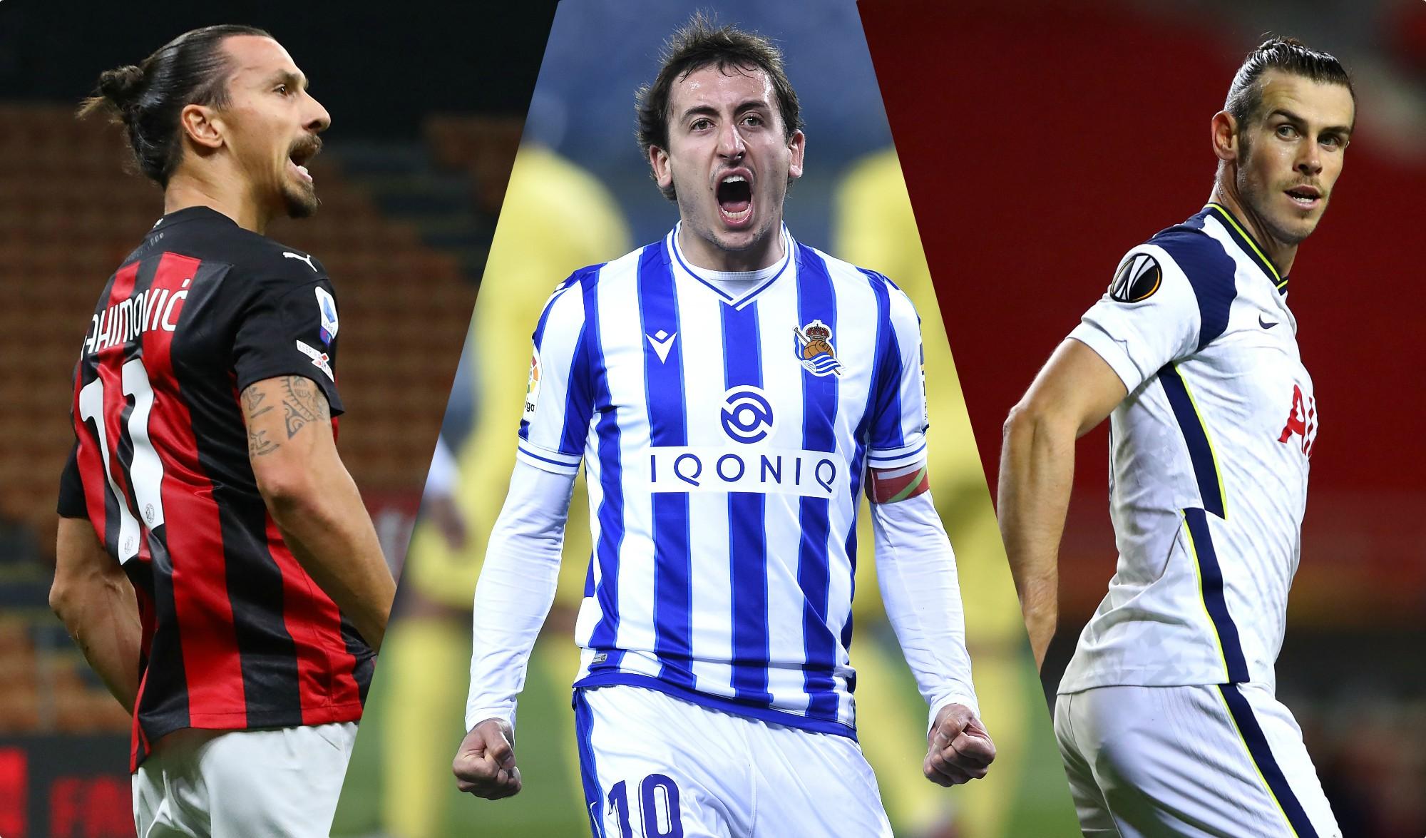 Ibrahimovic, Oyarzabal y Bale. (Getty)