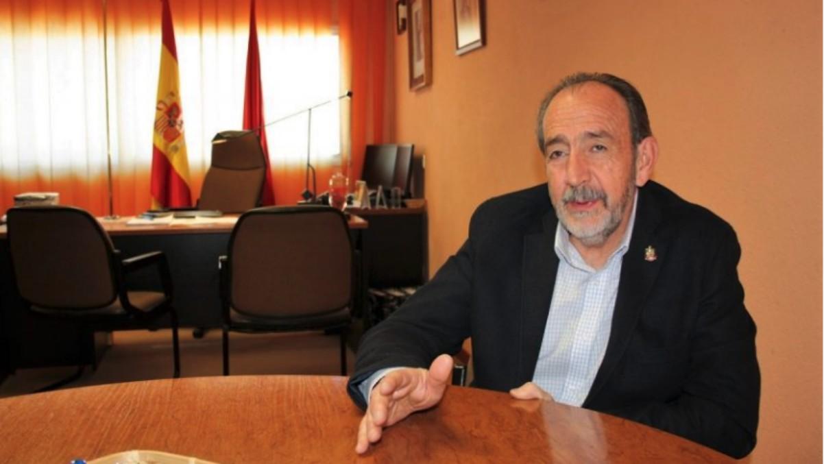 El presidente de la Federación de Fútbol de Madrid, Paco Díez, en una entrevista.