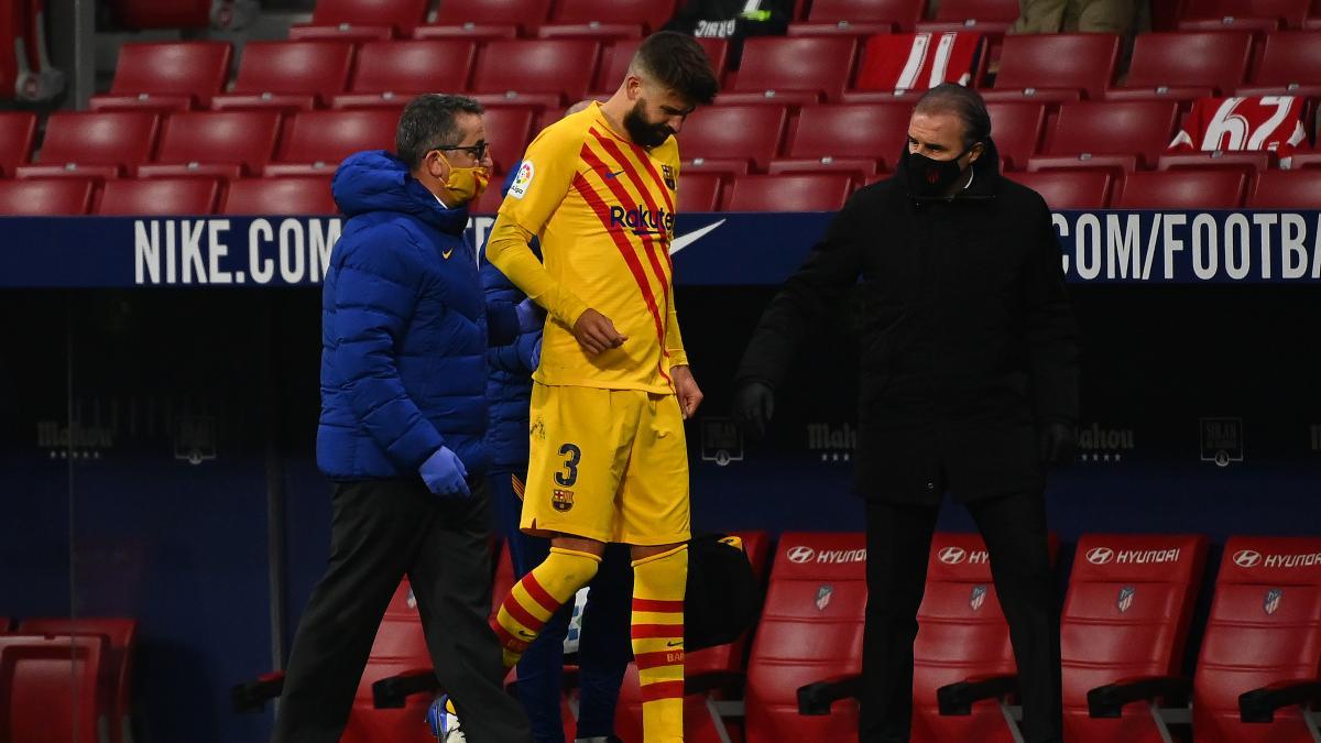 Gerard Piqué en el Wanda Metropolitano. (AFP)