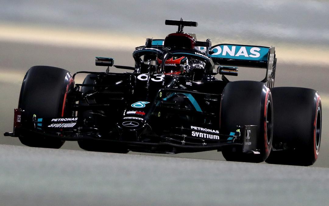 George Russell durante los Libres del Gran Premio de Sakhir. (AFP)