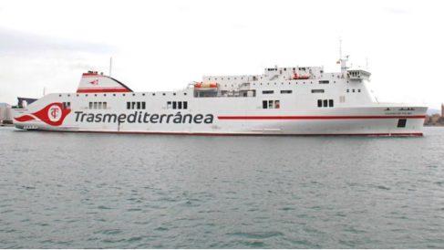 El buque 'Ciudad de Palma', cuyo embargo ha logrado levantar Trasmediterránea en 48 horas.