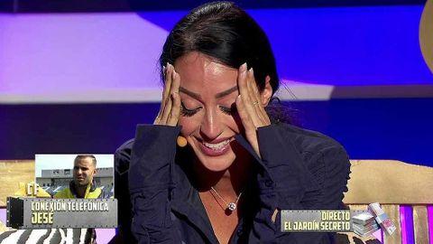 Aurah Ruiz al escuchar a Jesé en 'La casa fuerte'