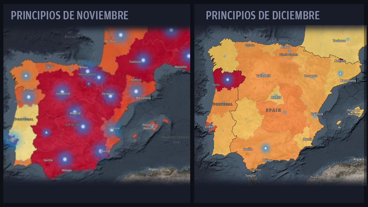 Evolución de los contagios en España según la OMS.