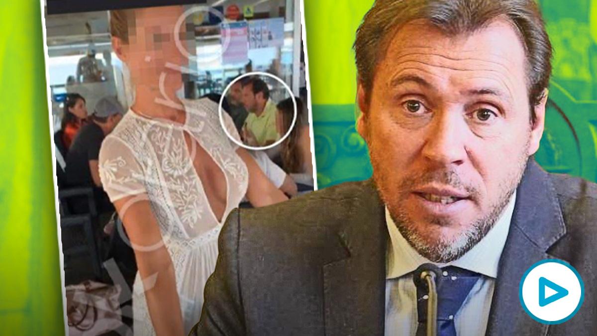 Óscar Puente, durante un almuerzo en Formentera con el empresario Sergio Zaitegui
