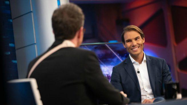 Rafa Nadal y Pablo Motos en 'El Hormiguero' (Antena 3).