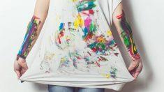 La pintura puede estropear la ropa si no sabes cómo limpiarla
