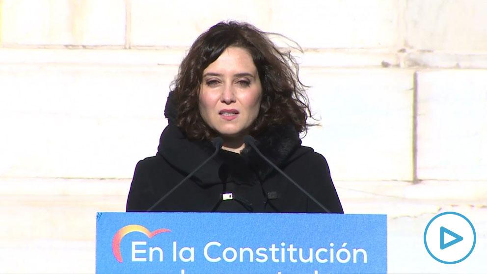 Ayuso critica que el «chavista» Pablo Iglesias diga quién está «dentro o fuera de la Democracia»