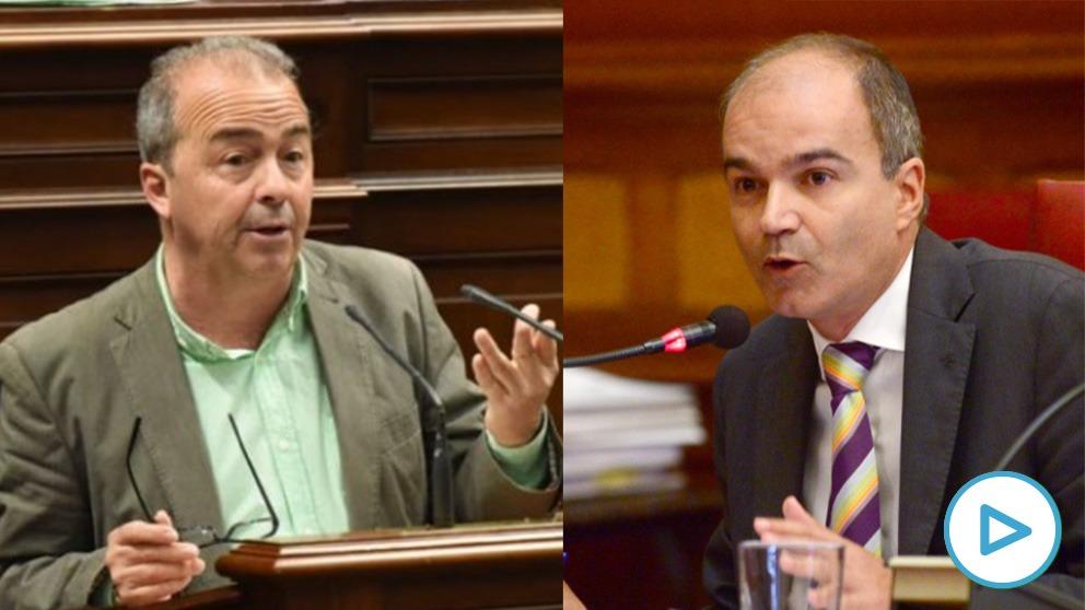 Francisco Déniz (Podemos) y José Antonio Díaz (Coalición Canaria)