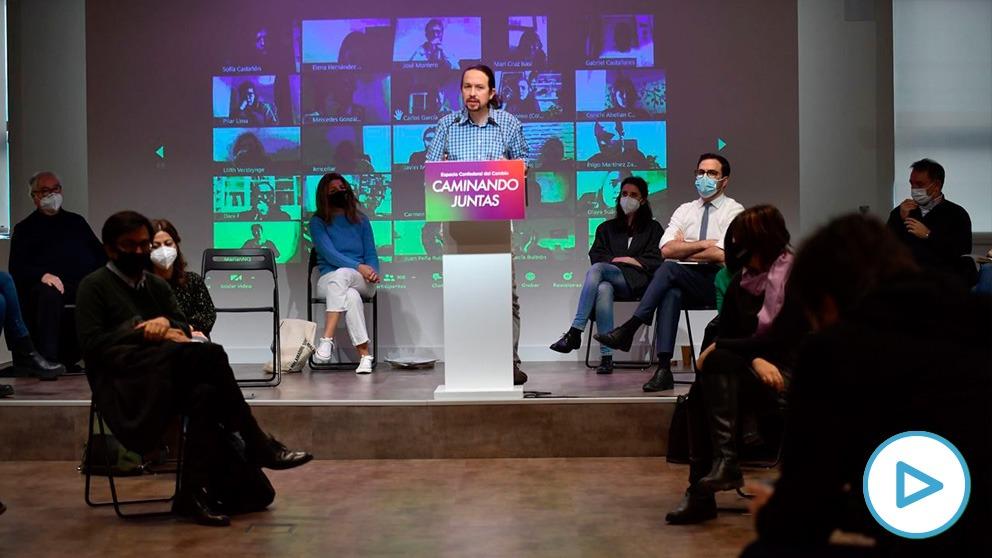 Reunión este sábado del Consejo confederal de Unidas Podemos-En Comú-Galicia en Común. (Imagen: Podemos)