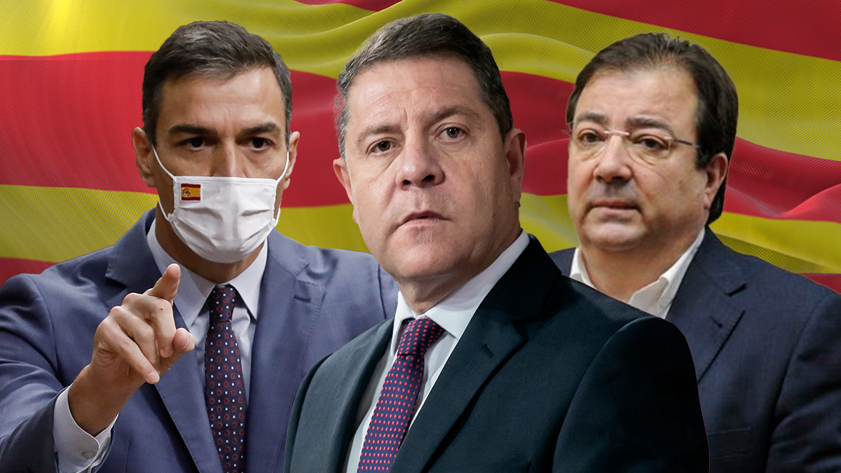 Pedro Sánchez, Emiliano García-Page y Guillermo Fernández Vara.