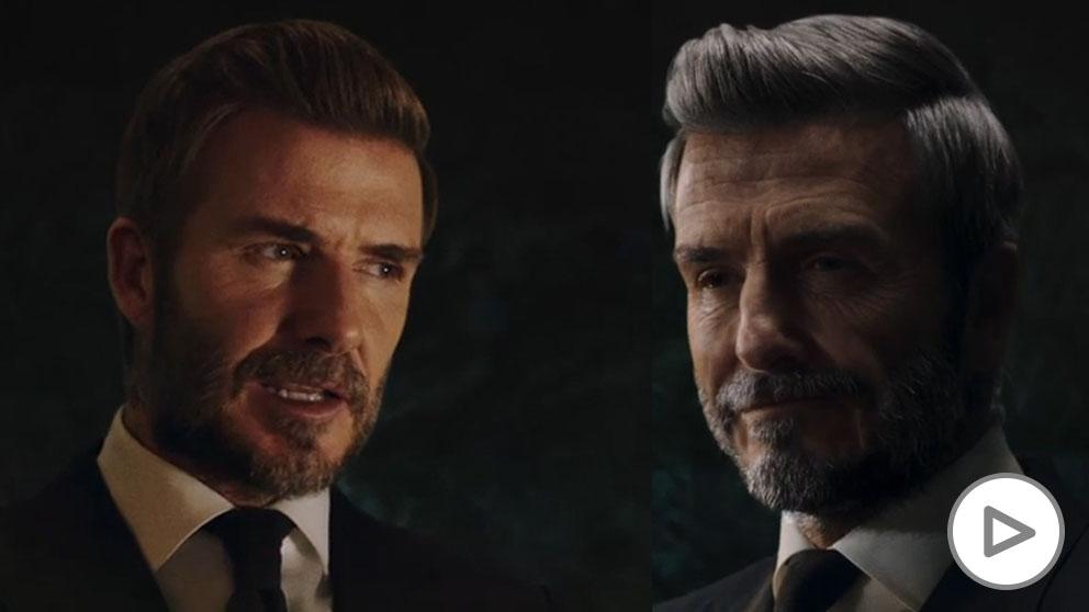 La imagen viral de David Beckham envejecido.