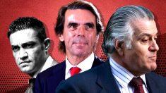 Sergio Ríos, José María Aznar y Luis Bárcenas