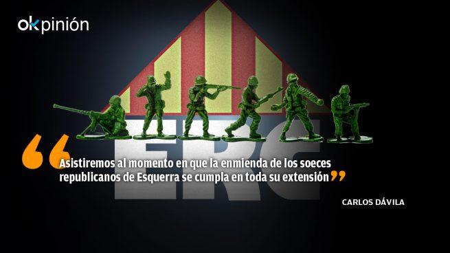 ERC, socio de Sánchez, llama asesino al Ejército