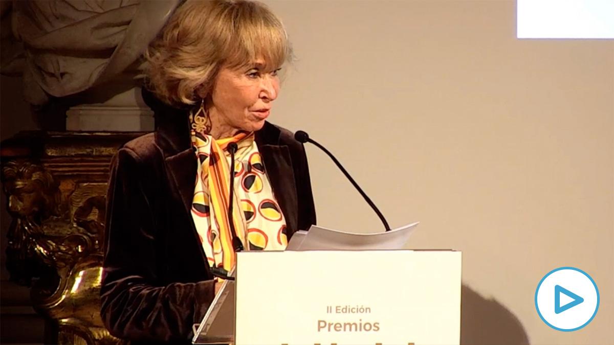 María Teresa Fernández de la Vega en los Premios de WLW.