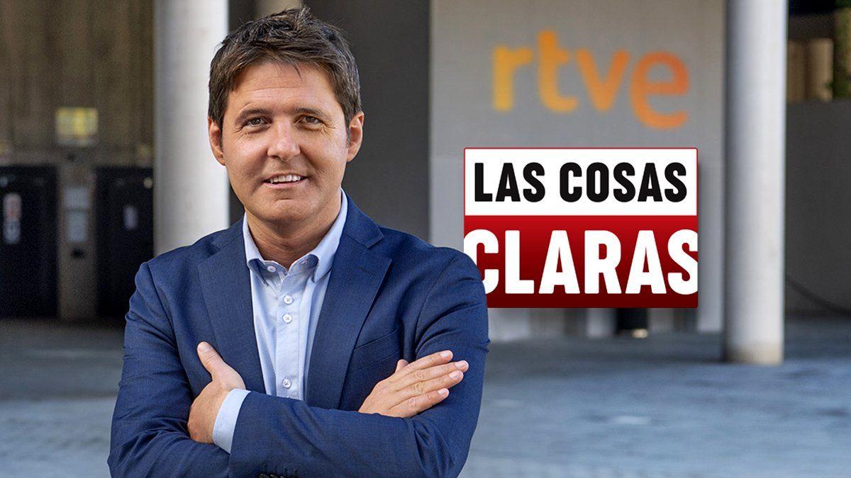 Jesús Cintora, presentador de 'Las cosas claras' en La 1 de TVE.