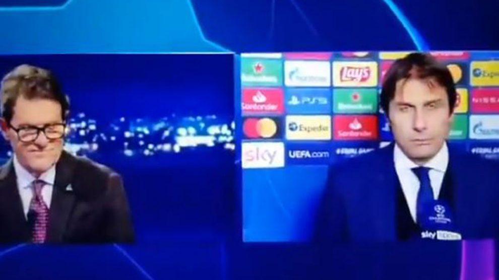 Conte y Capello, tras el partido del Inter (Twitter)