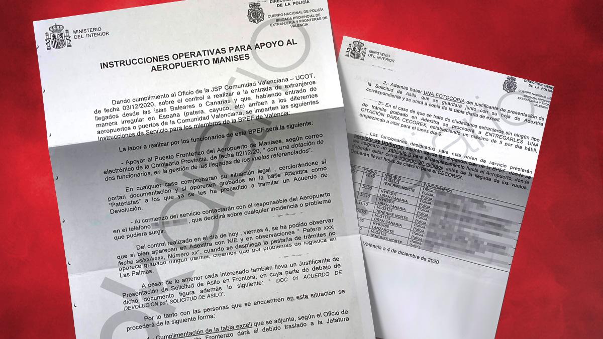 Las órdenes de la Policía para los vuelos de inmigrantes ilegales desde Canarias