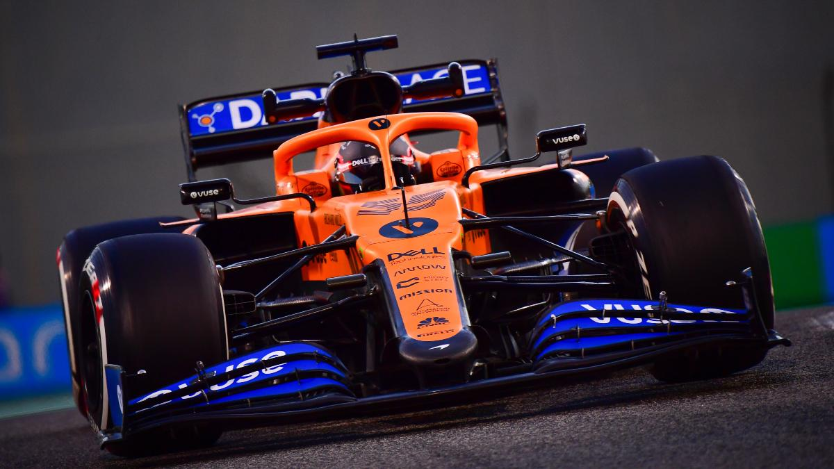 Carlos Sainz en los Libres del Gran Premio de Abu Dabi. (AFP)