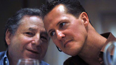 Juan Todt y Michael Schumacher. (AFP)