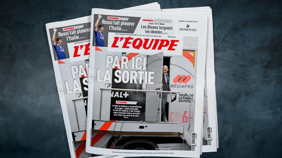 Portada de L'Equipe sobre Jaume Roures.