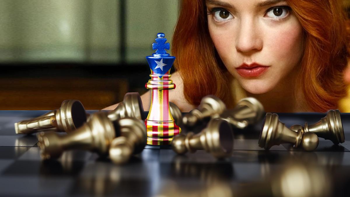 Los separatistas catalanes aseguran que el ajedrez tiene su origen en Cataluña para aprovecharse del éxito de 'Gambito de dama'.